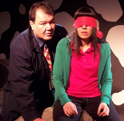 Patrick Gallagher and Beth Patrik in Milk and Cookies at the Sidewalk Studio Theatre, Burbank, California, 2008