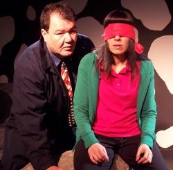 Patrick Gallagher and Beth Patrik in Milk and Cookies at the Sidewalk Studio Theatre, Burbank, California, 2008