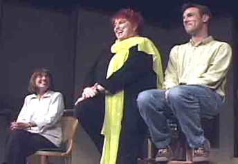 Diane Grant, Marcia Wallace and Jeff Witzke in Sunday Dinner
