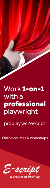 Work 1-on-1 with a professional playwright: E-script, the online scriptwriting workshop